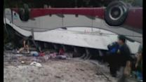 Bus overturns in China killing 6 people