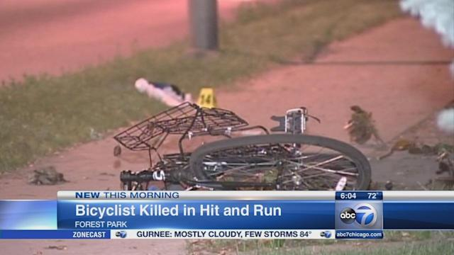 Police search for vehicle involved in apparent hit-and-run that killed bike rider in Forest Park