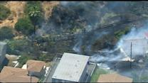 Raw Video: Brush fire in City Heights