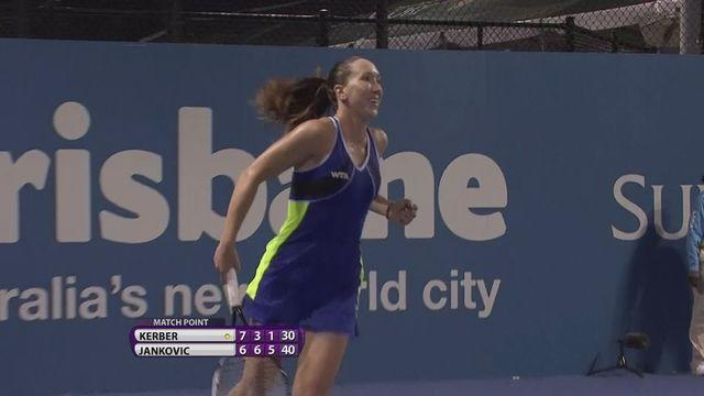 Jankovic edges Kerber in Brisbane quarter-finals