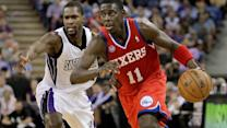 76ers select guard Carter-Williams as Jrue Holiday trade reports surface