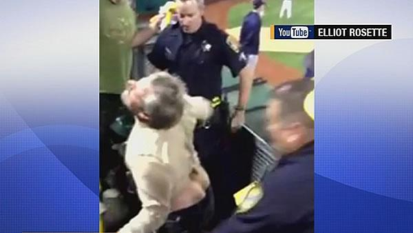 Video captures A's fan being Tased