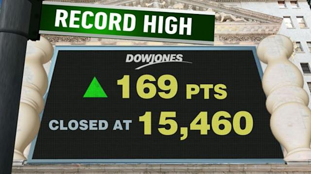 Stocks Surge to Record Highs