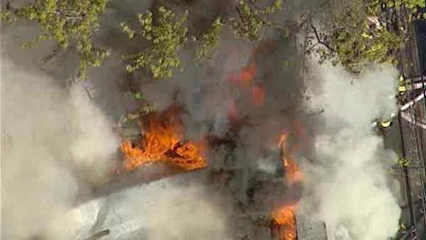 Garage fire causes day of problems in the Bronx