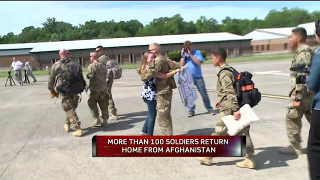 Over 100 CT Soldiers Return From Afghanistan