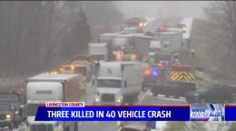 3 Killed in 40-Vehicle Pileup on Michigan Highway