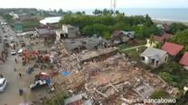 Aerial Footage Shows Earthquake Devastation in Indonesia
