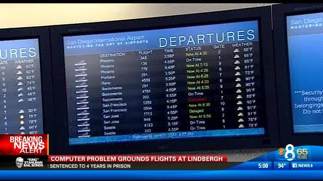 Computer problem grounds flights at Lindbergh