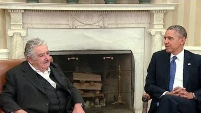 President Mujica of Uruguay Attends Bilateral Meeting With President Obama