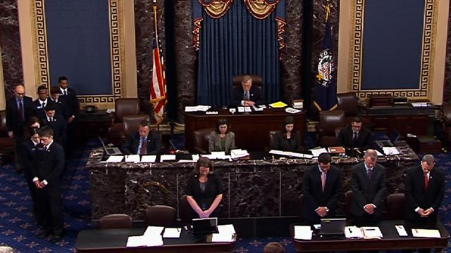 Senate holds moment of silence for Boston Marathon bombings