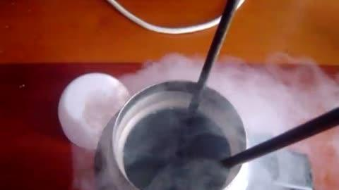 Ping Pong Ball Dipped Into Liquid Nitrogen