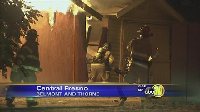 Fresno fire crews call for mayday during structure fire