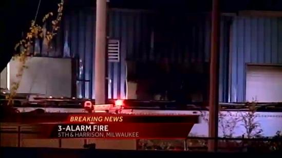 Milwaukee fire department on scene of a 3-alarm fire