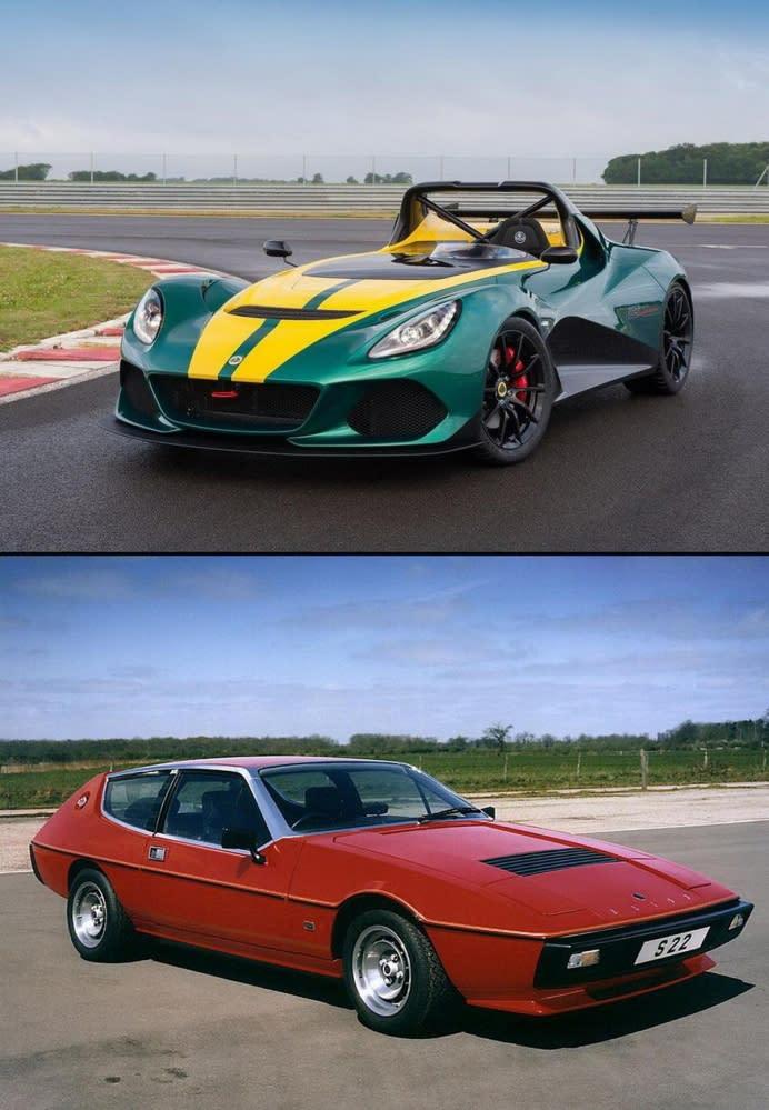▲上為Lotus 3-Eleven;下為1974 Elite