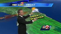 Dry conditions bring warmer temps