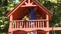 Hearts Put Into Playset For 5-Year-Old With Leukemia