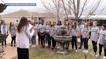 School choir performs concert at home of teacher battling terminal cancer