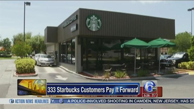 378 people 'pay it forward' at Florida Starbucks