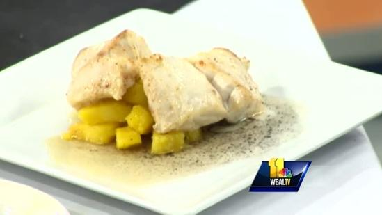 Cinnamon butter rockfish sails on sweet side