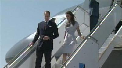 Watch: Prince William, Kate Arrive In California