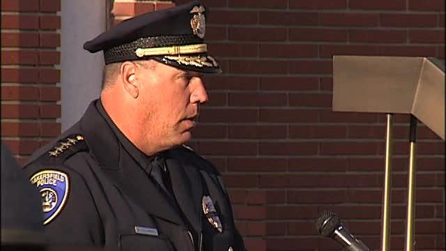 Police Chief Greg Williamson Delivers Speech At BPD Memorial