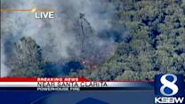 Massive Southern Calif. fire still burning