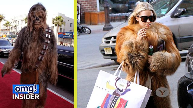 Is that Ashley Olsen … or Chewbacca?
