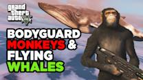 Bodyguard Monkeys & Flying Whales - Top GTA V Mods