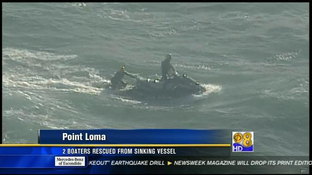 2 boaters rescued from sinking vessel