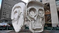 New Art Unmasked in NYC's Rockefeller Plaza