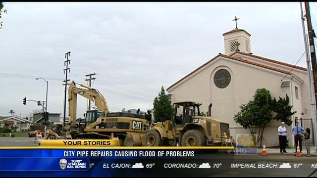City pipe repairs causing flood of problems in Normal Heights