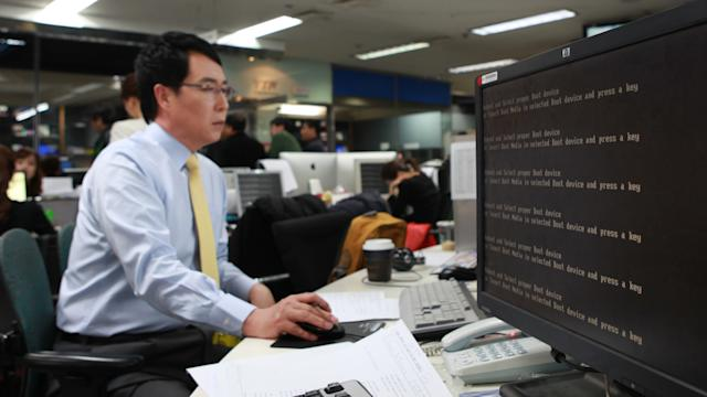 South Korean Computers Crash, Hackers Suspected