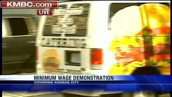 Protests call for minimum wage increase