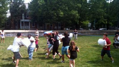 Teens Hold Pillow Fight To Benefit Charity