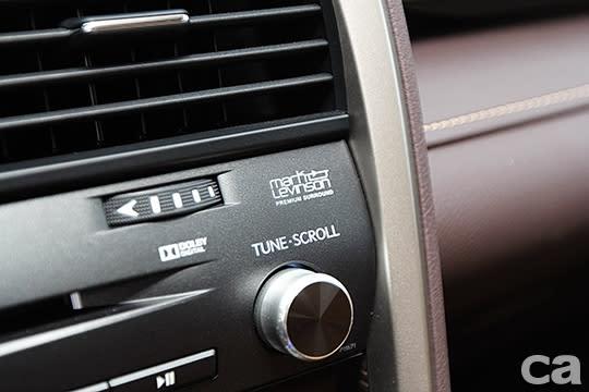 Lexus高檔的Mark Levinson音響系統有口皆碑,在RX車系中為旗艦版專屬。