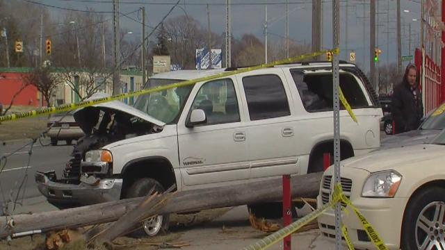Woman crashes into car, smashes into 2 utility poles and flees the scene
