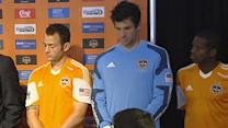 Dynamo players model new jerseys