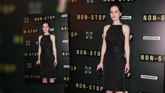 Michelle Dockery Stuns at the Non-Stop Paris Premiere