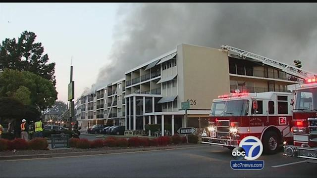Four injured from six-alarm fire in Redwood City