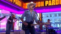 Jon Pardi performs 'California Sunrise' in Times Square