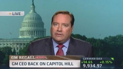 GM's CEO back on Capitol Hill