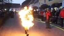 Man on Fire Sets New World Record