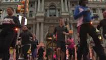 Philadelphia runs in support of Boston