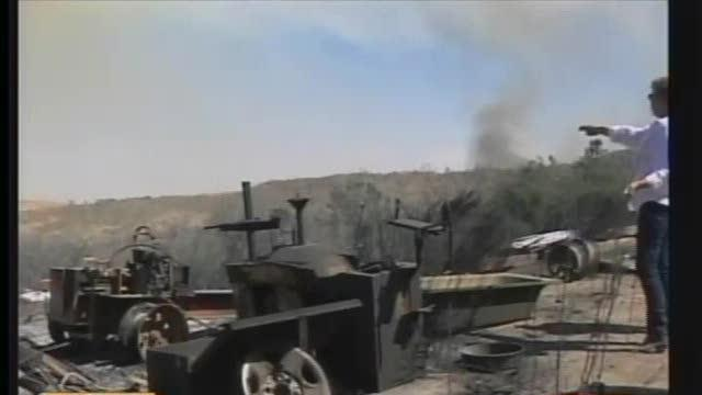 Homeowner Stays To Help Control Wildfire
