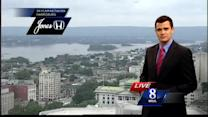 Less humid conditions expected tonight