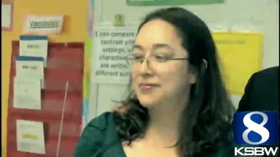 Greenfield teacher honored with KSBW Crystal Apple Award