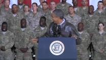 "In Afghanistan, Obama tells troops ""you inspire me"""