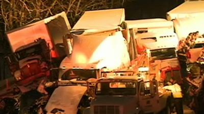 Raw: 3 Dead, at Least 20 Hurt in Indiana Pileup