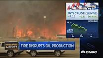 Fire disrupts oil production