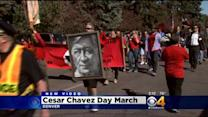 Hundreds March In Honor Of Cesar Chavez